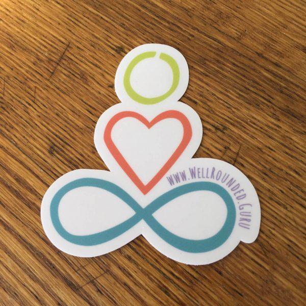 well rounded guru logo stickers